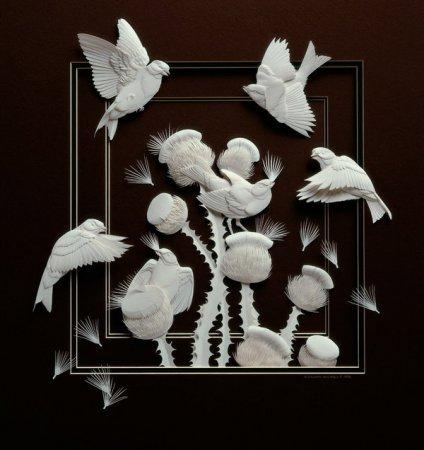 Бумажные трехмерные картины Кельвина Николса