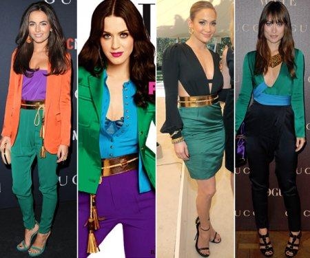 Правила сочетания ярких цветов в одежде
