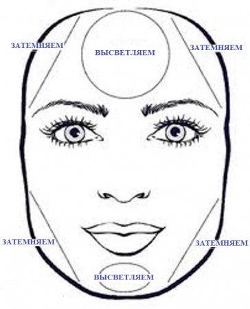 Правила контурирования лица в зависимости от его формы