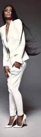 Женский белый пиджак - с чем носить