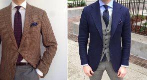 Научитесь носить непарные брюки и пиджак